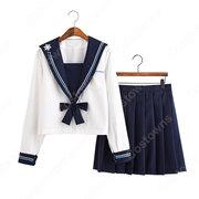学園制服 コスプレ衣装 文化祭 体育祭 ユニフォーム コスチューム セーラー服 長めのスカート