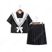 学園制服 コスプレ衣装 文化祭 体育祭 ユニフォーム コスチューム 弓と矢の刺繍入り セーラー服