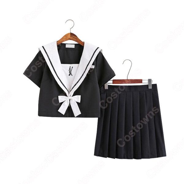 学園制服 コスプレ衣装 文化祭 体育祭 ユニフォーム コスチューム 弓と矢の刺繍入り セーラー服元の画像