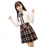 学園制服 コスプレ衣装 文化祭 体育祭 ユニフォーム コスチューム チェック柄 欧米日本韓国風制服