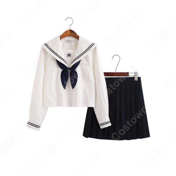 学園制服 コスプレ衣装 文化祭 体育祭 ユニフォーム コスチューム セーラー服 COT-A00413元の画像