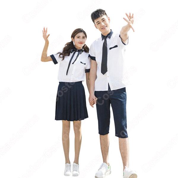 学園制服 コスプレ衣装 文化祭 体育祭 ユニフォーム コスチューム 欧米風制服 組み合わせ自由 COT-A00415元の画像