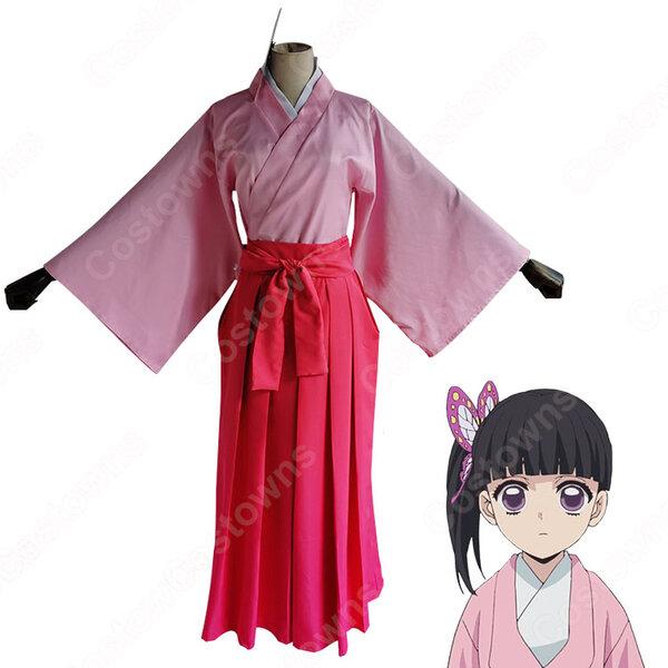 栗花落カナヲ(つゆりかなを) コスプレ衣装 【鬼滅の刃】 cosplay 幼少期 和服元の画像