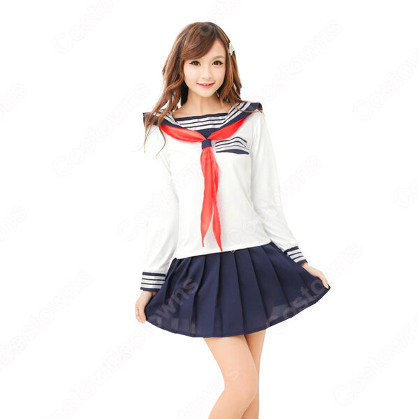 学園制服 コスプレ衣装 文化祭 体育祭 ユニフォーム コスチューム 日本学生制服 セーラー服上下セット元の画像