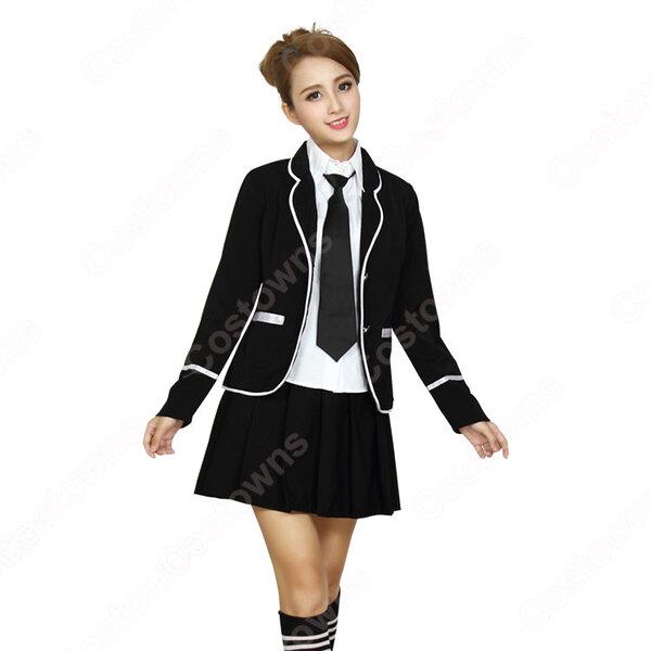 学院風制服 コスプレ衣装 文化祭 体育祭 ユニフォーム コスチューム 欧米日本韓国学生制服 学校制服 制服上下セット元の画像