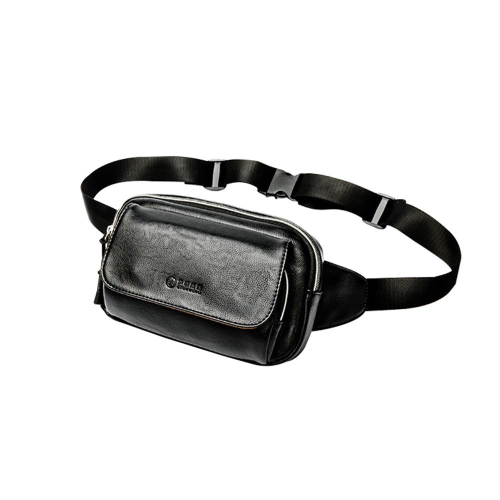 Whatna 3way 革 ボディバッグ・ワンショルダーバッグ メンズ ウエストバッグ 斜め掛け 軽量 スポーツバッグ 撥水 レザー バッグ ipadmini収納可-cosotowns