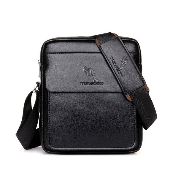 Whatna 革 ショルダーバッグ メンズ ポシェット縦型 iPad 収納可 人気型 耐久性 レザー ビジネスバッグ メッセンジャーバッグ 斜め掛け 全2色(HA-026)元の画像