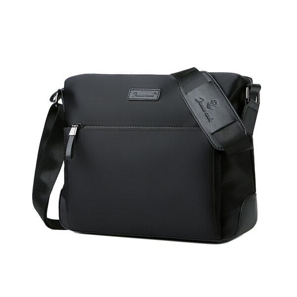 Whatna ショルダーバッグ メンズ メッセンジャーバッグ 横型 A4 オックスフォード布 防水 耐磨耗 ビジネスバッグ 小さい 斜めがけ バッグ 男性用 紳士用 黒 ブルー(k1088)元の画像