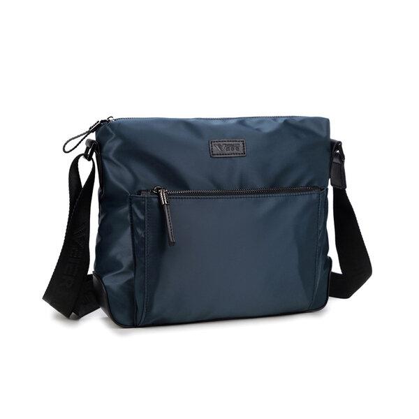 Whatna ショルダーバッグ メンズ メッセンジャーバッグ 横型 A4 13インチpc収納可 収納可 オックスフォード布 防水 耐磨耗 ビジネスバッグ 小さい 斜めがけ バッグ 男性用 紳士用 黒 ブルー(5208-31)元の画像