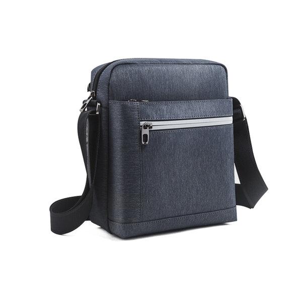 Whatna ショルダーバッグ メンズ メッセンジャーバッグ 縦型 B5 オックスフォード布 防水 耐磨耗 ビジネスバッグ 小さい 斜めがけ バッグ 男性用 紳士用 黒 ブルー元の画像