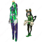 蛙吹梅雨 コスプレ衣装 【僕のヒーローアカデミア】 cosplay 全身タイツ 戦争コスチューム ヒーロースーツ