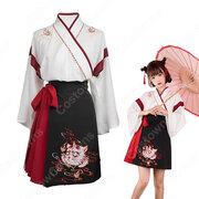 漢服 コスプレ衣装 中国伝統衣装 古風 可愛い ハロウィン 学園祭 おしゃれコス服 猫刺繍 合わせえり 日常ミニスカート