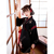 漢服 コスプレ衣装 中国伝統衣装 古風 可愛い ハロウィン 学園祭 おしゃれコス服 猫刺繍 合わせえり 日常ミニスカート 黒