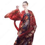 漢服 襦裙 コスプレ衣装 中国伝統衣装 古風 可愛い ハロウィン 学園祭 パーティー おしゃれコス服 花柄 赤漢服