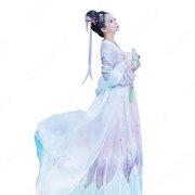 漢服 襦裙 コスプレ衣装 中国伝統衣装 古風 可愛い ハロウィン 学園祭 パーティー 中国時代劇 おしゃれコス服 披帛付き
