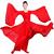 漢服 コスプレ衣装 涼涼演出服 中華風 古典ダンス衣装 赤白二色 学園祭 おしゃれコス服 学園祭文化祭 演出服 ダンスウェア 古典楽器吹奏衣装 赤