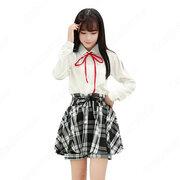 学園制服 コスプレ衣装 文化祭 体育祭 ユニフォーム コスチューム 欧米日本韓国風学校制服 日常着 チェック柄スカートパンツ 日常服