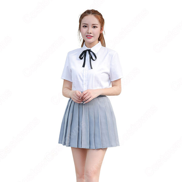 学園制服 コスプレ衣装 文化祭 体育祭 ユニフォーム コスチューム 日本韓国風学校制服 男女上下セット組み合わせ自由 元の画像