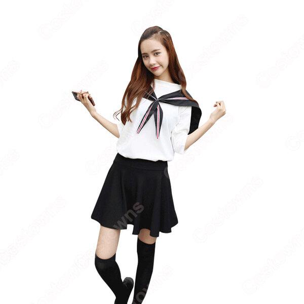 学園制服 コスプレ衣装 文化祭 体育祭 ユニフォーム コスチューム 水兵服 セーラー服元の画像