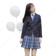 学校制服 コスプレ衣装 日本韓国風学生制服 学園祭 体育祭 コスチューム ユニフォーム チェック柄 大きいサイズ