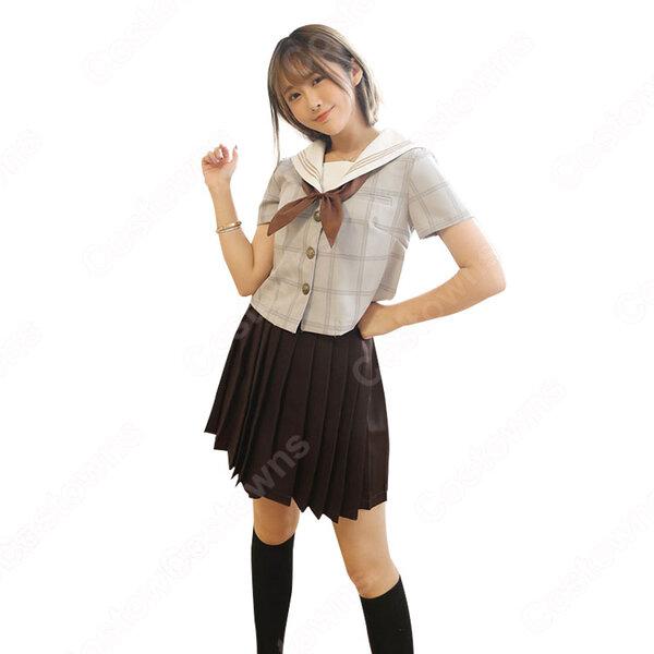 日本風制服 コスプレ衣装 カレッジ風 学園祭 体育祭 コスチューム セーラー服 ユニフォーム 演出服元の画像