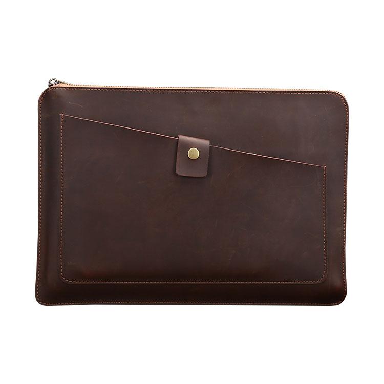 Whatna 牛革 セカンドバッグ メンズ クラッチ バッグ 大きめ A4 13.3 15.6 ipad収納可 厚手 本 革 ブリーフケース ファイルバッグ 封筒袋