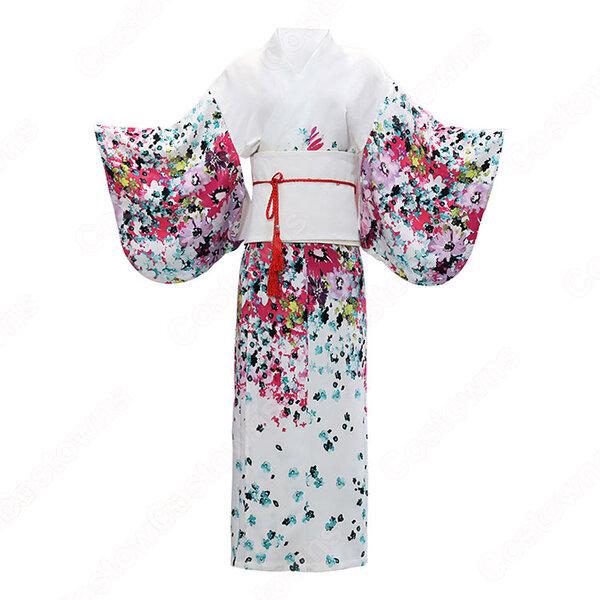 女性浴衣 和服 着物 日本伝統服 舞台衣装 コスプレ衣装 コスチューム 写真撮影 演出服 改良タイプ COT-A00546元の画像