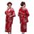 女性浴衣 和服 着物 日本伝統服 舞台衣装 コスプレ衣装 コスチューム 写真撮影 演出服 花柄 レッド