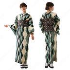 女性浴衣 和服 着物 日本伝統服 舞台衣装 コスプレ衣装 コスチューム 写真撮影 演出服 菱柄