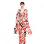 女性浴衣 和服 着物 日本伝統服 舞台衣装 コスプレ衣装 コスチューム 写真撮影 演出服 松文柄 四季の花草 振袖