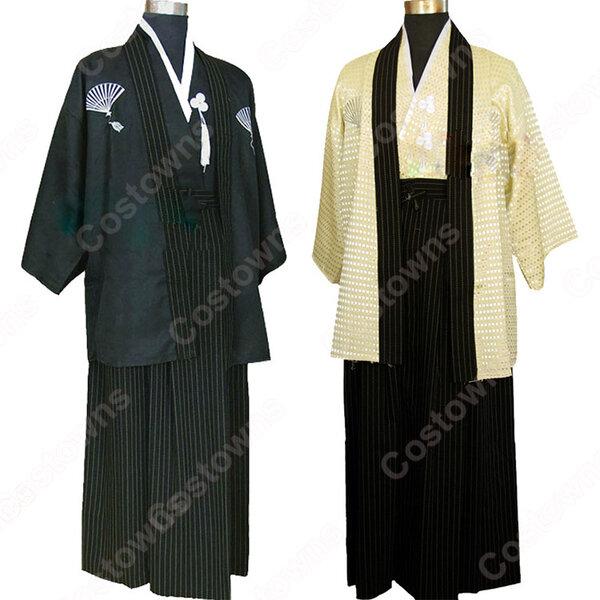 男性の着物 和装 和服 袴 コスプレ衣装 コスチューム 羽織袴 舞台衣装元の画像