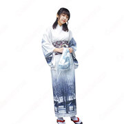 女性浴衣 和服 着物 日本伝統服 舞台衣装 コスプレ衣装 コスチューム 写真撮影 演出服 改良浴衣 風景柄