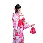 女性浴衣 和服 着物 日本伝統服 舞台衣装 コスプレ衣装 コスチューム 写真撮影 演出服 蝶蝶 菊柄 しだれ桜柄