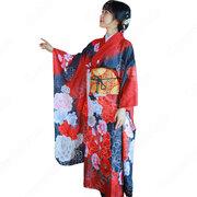 女性浴衣 和服 着物 日本伝統服 舞台衣装 コスプレ衣装 コスチューム 写真撮影 演出服 牡丹柄