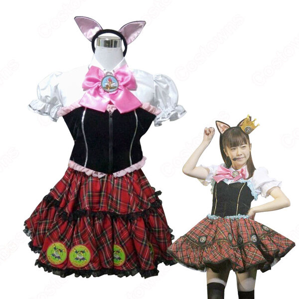 AKB48 ニャーKB48 妖怪ウォッチ 演出服 ライブ衣装 コスプレ衣装 アイドル衣装 制服 オーダメイド可元の画像