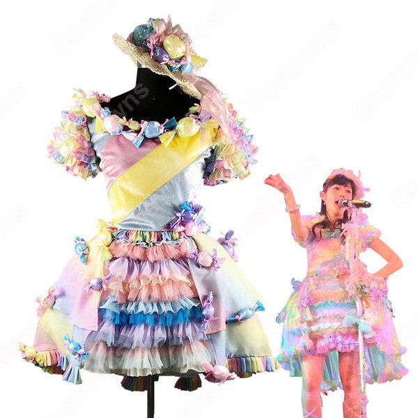 AKB48 「横山チームAウェイティング公演」 「キャンディー」 演出服 ライブ衣装 コスプレ衣装 アイドル衣装 オーダメイド可元の画像