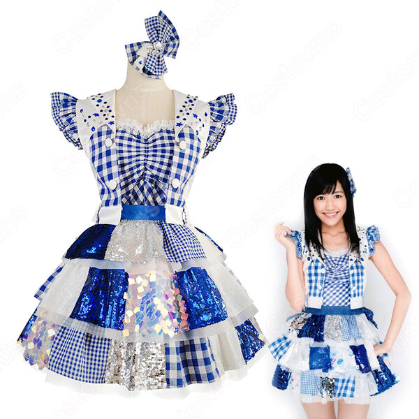 AKB48 「東京ドームコンサート」 「ギンガムチェック」 演出服 ライブ衣装 コスプレ衣装 アイドル衣装 オーダメイド可元の画像