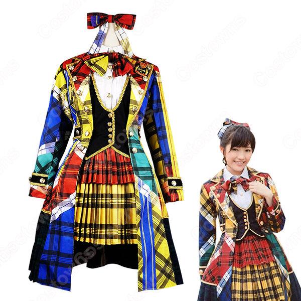 AKB48 「希望的リフレイン」 演出服 ライブ衣装 コスプレ衣装 アイドル衣装 ステージ衣装 MV衣装 オーダメイド可元の画像