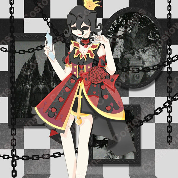 アイデンティティV 血の女王 マリー コスプレ衣装 【IdentityV 第五人格】 cosplay ハートの女王 衣装 スキン元の画像