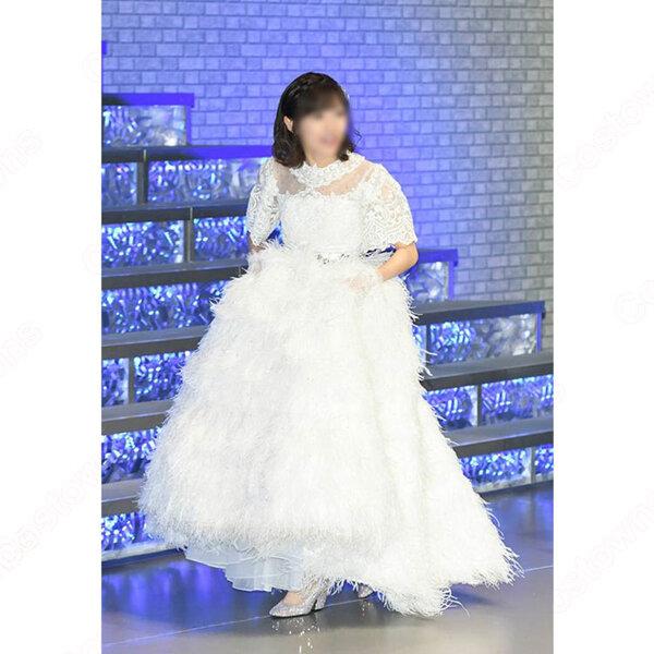 AKB48 渡辺麻友 「渡辺麻友 卒業コンサート~みんなの夢が叶いますように~」 演出服 ライブ衣装 コスプレ衣装 アイドル衣装 純白ドレス オーダメイド可元の画像
