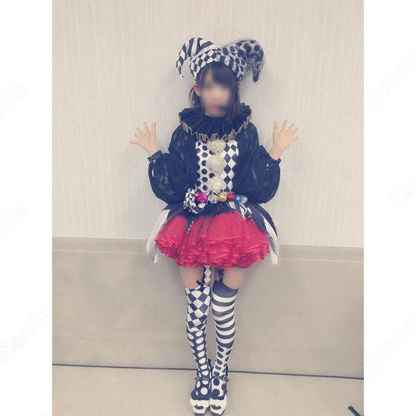 AKB48 41TH シングル 「ハロウィンナイト」 演出服 ライブ衣装 コスプレ衣装 アイドル衣装 ハロウィン仮装 オーダメイド可元の画像