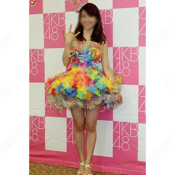 AKB48 「大島優子卒業コンサート」 「スキャンダラスに行こう!」 演出服 ライブ衣装 コスプレ衣装 アイドル衣装 卒業ドレス オーダメイド可元の画像