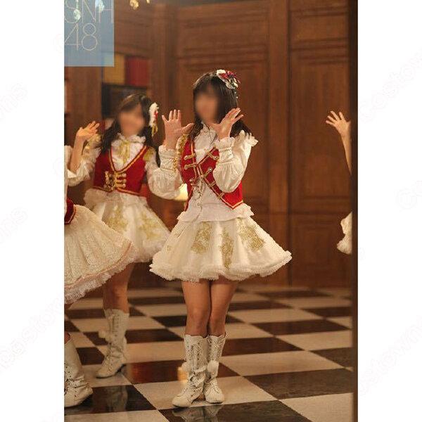 SNH48 打歌服 MV演出服 コスプレ衣装 アイドル衣装 白スカート オーダメイド可元の画像