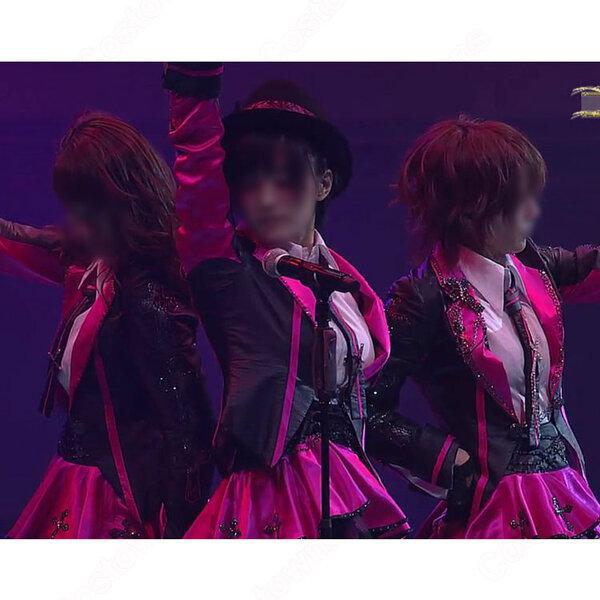 AKB48 M10 クロス 【AKB48グループ臨時総会~白黒つけようじゃないか!~】 演出服 ライブ衣装 コスプレ衣装 アイドル衣装 制服 オーダメイド可元の画像
