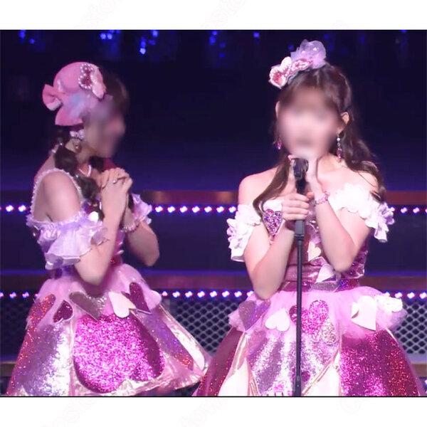 AKB48 「ハート型ウイルス」 小嶋陽菜・大島麻衣・川崎希 演出服 ライブ衣装 コスプレ衣装 アイドル衣装 オーダメイド可元の画像