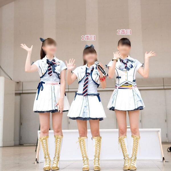 AKB48 16TH シングル 「ポニテールとシュシュ」 演出服 ライブ衣装 コスプレ衣装 アイドル衣装 制服 オーダメイド可元の画像