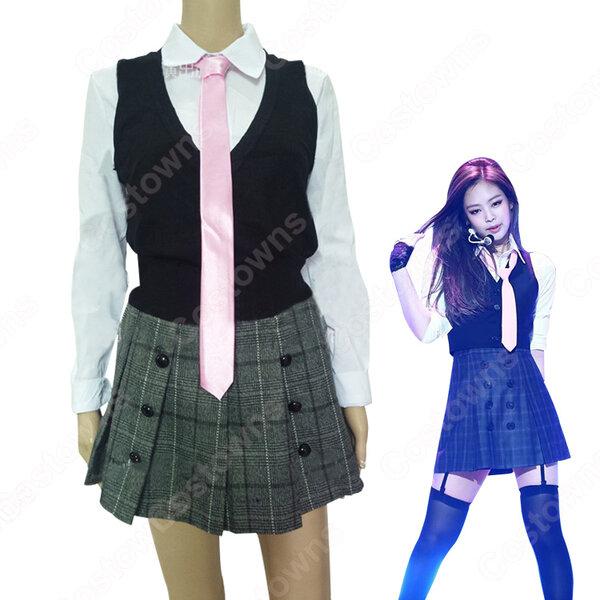 BLACKPINK(ブルピン) ジェニー キム・ジェニ 衣装 通販 「AS IF IT'S YOUR LAST」 MVダンス服 ステージ服 アイドル制服元の画像