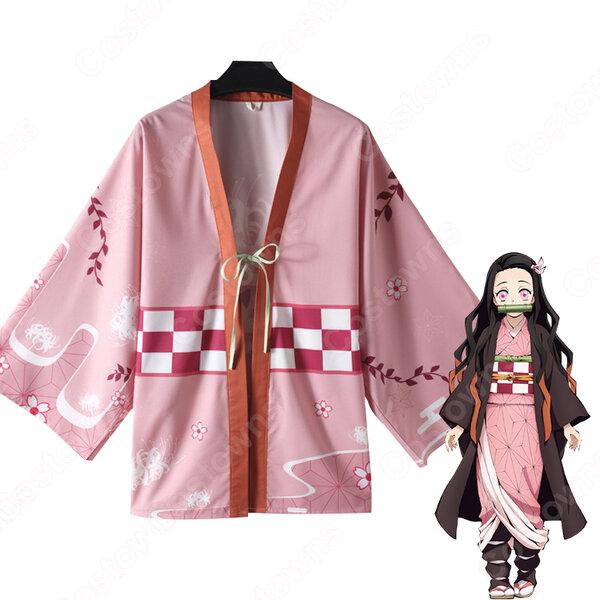 竈門禰豆子 (かまどねずこ) 羽織 コスプレ衣装 『鬼滅の刃』の登場人物の仮装 コスチューム元の画像