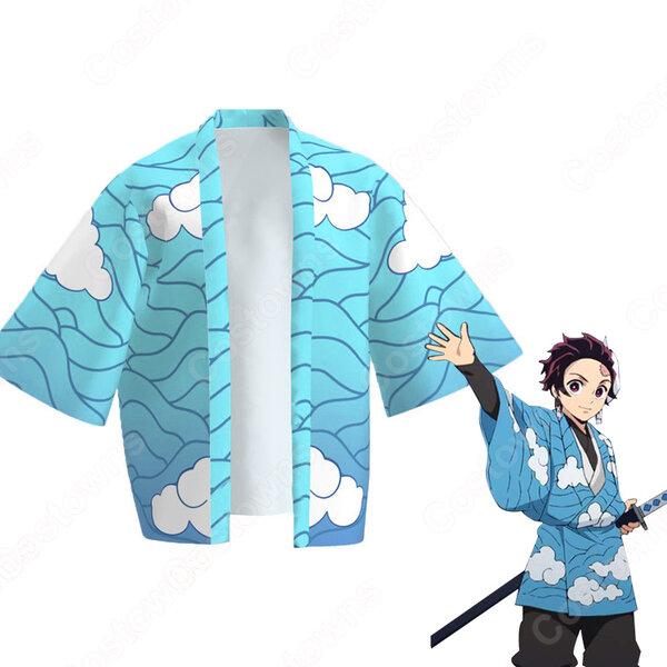 炭治郎 雲 羽織 フリーサイズ、大人用、子供用 2サイズ コスプレ衣装 『鬼滅の刃』の登場人物の仮装 コスチューム元の画像