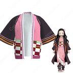 竈門禰豆子 (かまどねずこ) 羽織 フリーサイズ、大人用、子供用 3サイズ コスプレ衣装 『鬼滅の刃』の登場人物の仮装 コスチューム